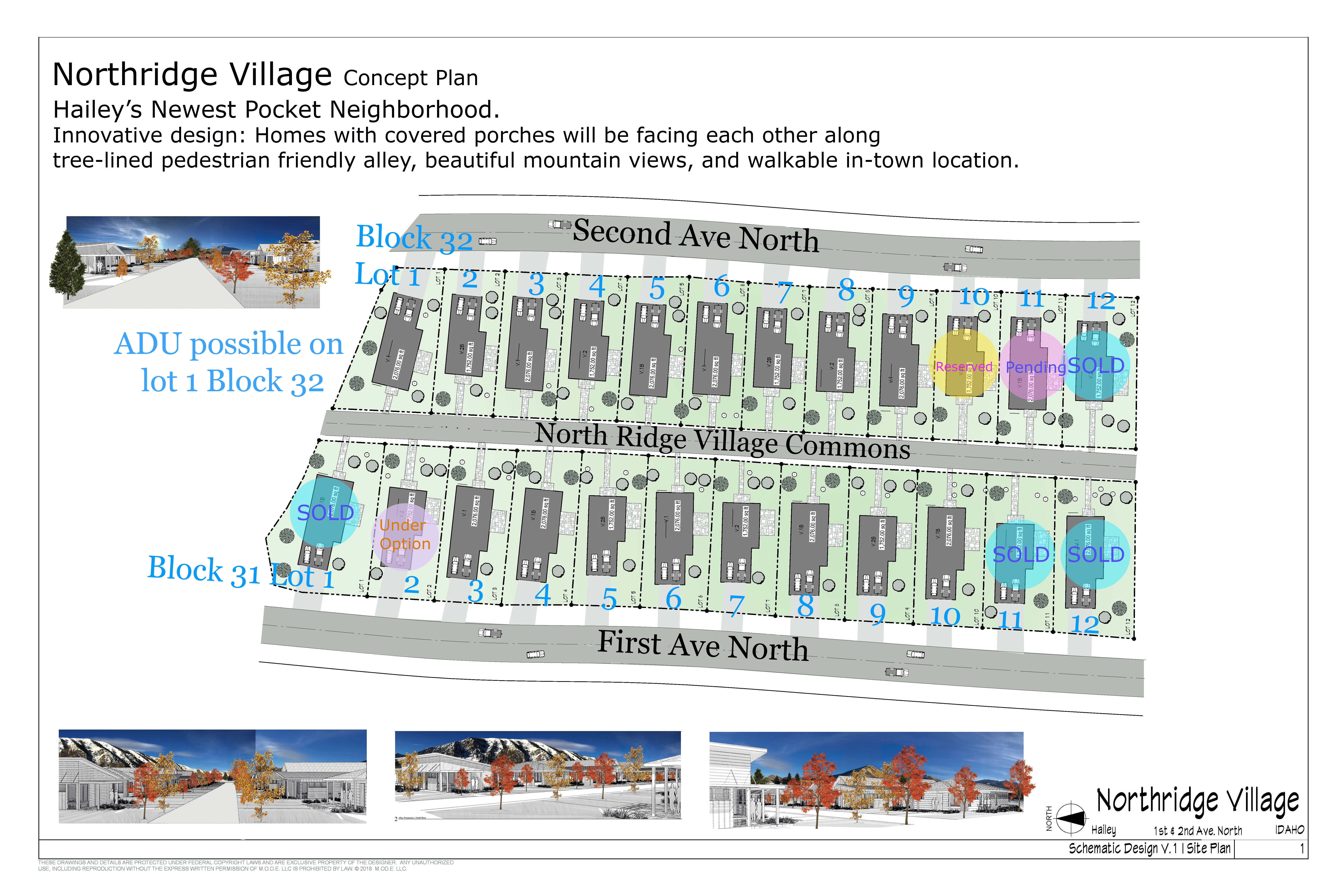 Northridge Village Availability Map updated June 29, 2020